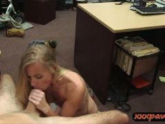 Slender blond slut nailed by pawn dude at the pawnshop