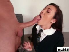 Petite kiley jay takes monster cock so deep