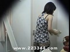 Peeping the locker room of japanese babes by hidden
