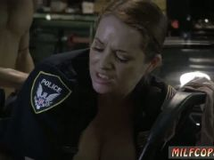 Two hot milf and lucky guy chop shop owner gets shut down