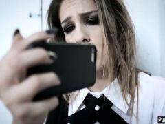 Horny teacher hard fucks a wet schoolgirl teens pussy