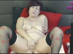 Latina milf with fuck machine