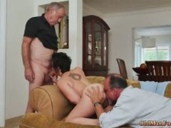 Old men cum inside more years of bone for this stunning brunette
