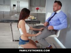 Hot family breakfast sex