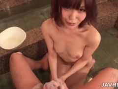 Sensual oral in the shower along nude yua ariga