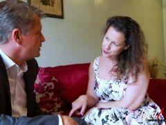 Agedlove hot mature lady seducing businessman