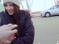 Italian babe rebecca having sex with a stranger for money