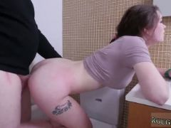 Bdsm scene and he flushes her head several times in the toilet cup as