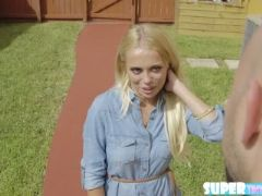 Blonde brice loves hardcore pussy fuck with neighbors cock