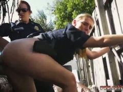 Blond big tits police threesome and masturbates her pussy hd once the