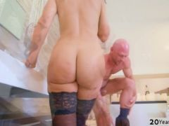 Busty milf lisa loves a deep pussy fuck by a hunk dude