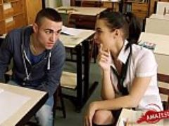 Sexy student fucked by teacher who is this