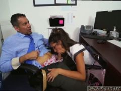 Cute teen rough anal bring your playfellow s daughter to work day