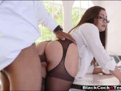 Big boobs woman anal rammed by black man