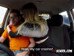 Blondie rhiannon ryder sucks driving instructors cock