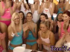 Blonde and threesome girls came over to soiree and celebrate