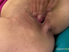 Brunette drills her own juicy pussy
