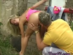 Getting a blowjob first time josje pounding her lover outdoors