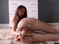 Special lingerie sexy camgirl anal toy