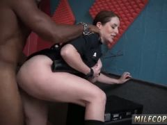 Bronzed milf raw flick grips cop banging a deadbeat dad