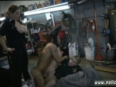 Real mature milf and big butt blonde chop shop owner gets shut down
