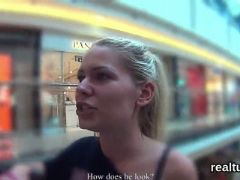 Perfect czech nympho was seduced in the shopping centre and pounded in