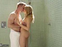 Big dick shower surprise for blonde mia malkova