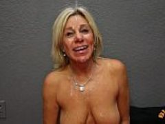 Mature cougar payton hall gets huge facial from year old