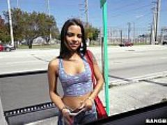 Latina nikki kay is all about her money on the bang bus bb