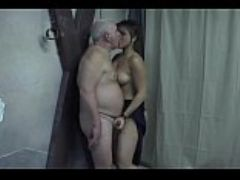 Young woman passionately fucked old yong