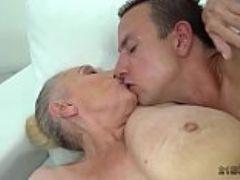 Granny baits dude to seduce