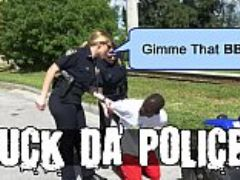 Black patrol illegal street racing black thugs get busted by milf cops