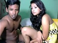 Newly married south indian couple with ultra hot babe webcam show