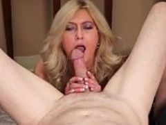 Milf gives smoking blow job before getting fucked ending w facial smokes w cum on face
