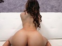 Big booty mixed girl rides a mean dick