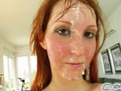 Cum for cover redheads drenched in cum after cock deepthroat