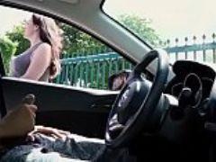 Personal driver fuckin in car