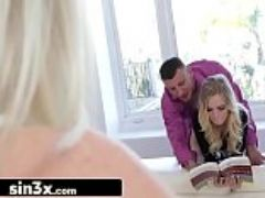 Creepy stepdad almost caught with naughty daughter alex grey